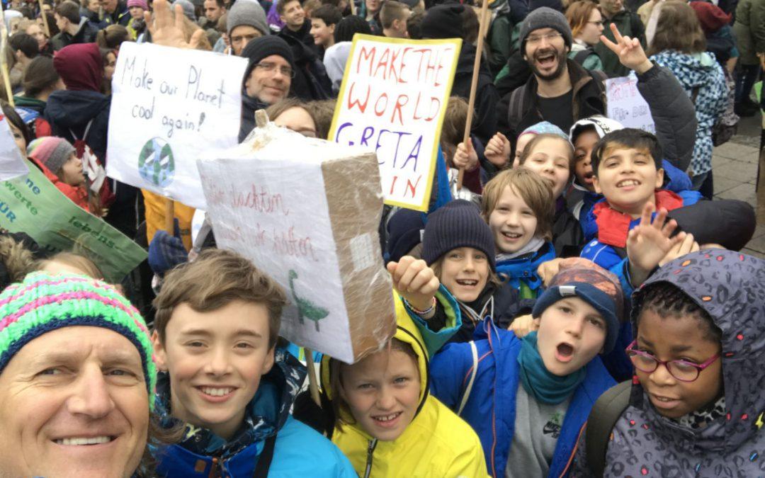 Demonstrieren für mehr Klimaschutz