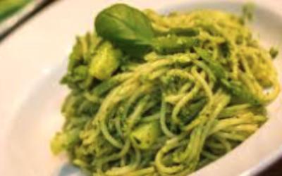 Rezepte: Spaghetti Pesto klassisch